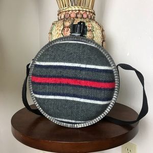 Vintage Wool Flannel Canteen Rustic Decor Wedding